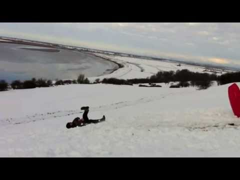 Extreme Sled jumping!! - RJp TV