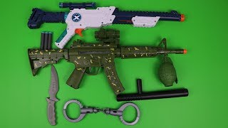 box of toy military guns toy and equipment toys for kids