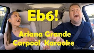 Ariana Grande Carpool Karaoke Vocal Highlights (F#3-G5-Eb6)