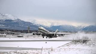 Evergreen International Airlines Boeing 747-200B [N486EV] takes off from Anchorage