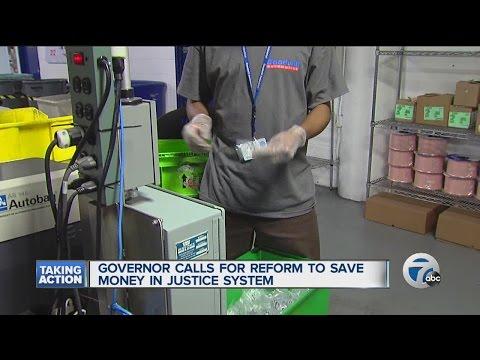 Michigan Gov. Rick Snyder proposes reform to state criminal justice system