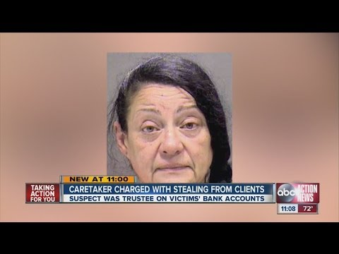 Sarasota caretaker allegedly stole money from her disabled patient