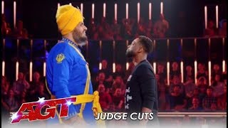 Bir Khalsa: Indian Danger Act Nearly KILL Each Other On Stage! | America's Got Talent 2019