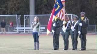 Ally Copenhaver sings the Star Spangled Banner