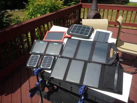 Portable USB Solar Panel Charger Review / Tests  - Part 1