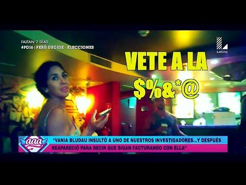 AMOR AMOR AMOR 08/04/16 VANIA BLUDAU INSULTA A REPORTERO DE 'AAA' Y ASEGURA QUE SUS EX...