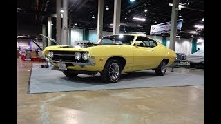 1970 Ford Torino Cobra Sportsroof in Yellow & 429 Engine Sound on My Car Story with Lou Costabile