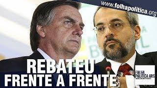 Ministro de Bolsonaro rebate 'Fake News' frente a frente com jornalista - Abraham Weintraub/Educação