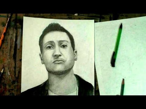 Draw YouTube: How to Draw Nicola Foti (soundlyawake) Portrait Pencil Drawing