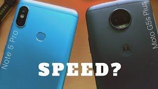 Xiaomi Redmi Note 5 Pro vs Moto G5s Plus: Speed Test Comparison.