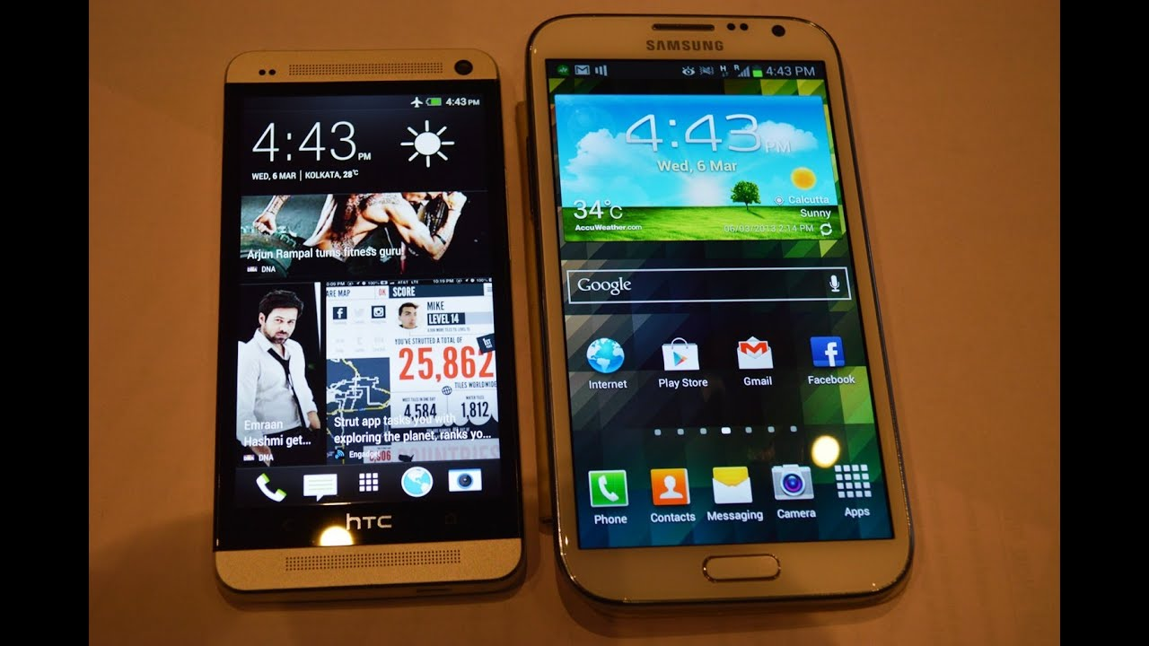 Htc One vs Samsung Galaxy Note