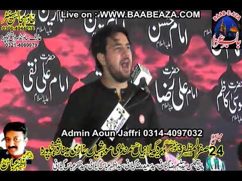 Farhan Ali Waris Majlis e Aza 24 Safar 2018 Ghazi Minara Sheikhupura (www.baabeaza.com)