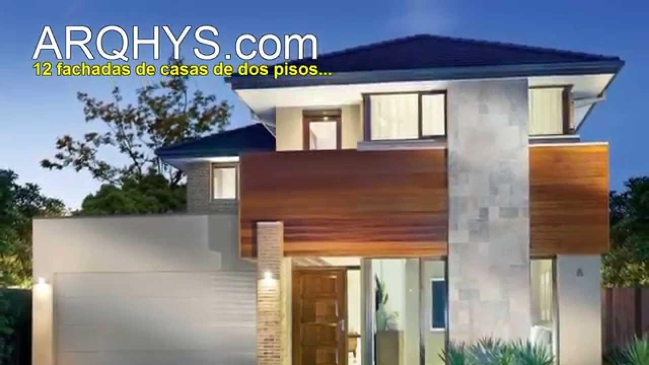12 fachadas de casas de dos pisos dos niveles youtube for Planta de casa de dos pisos