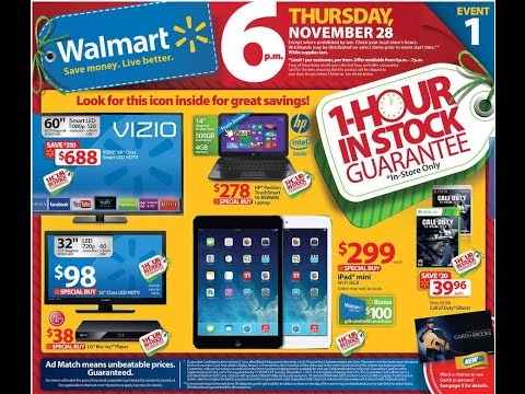 BLACK FRIDAY 2014:  WALMART CHRISTMAS Ads & WALMART CHRISTMAS deals