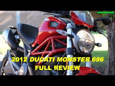Ducati Monster 696 Review - A Good Starter Bike? Yes It Is, But... video
