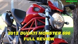 DUCATI Monster 696 Review - A Good Starter Bike? Yes it is, but...