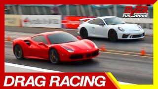 Ferrari 488 vs Porsche 911 GT 3 vs Audi TT S y RS | Piques Barranquilla 2019