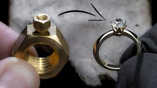 IK DRAAI 2 HEX NUTS in een 1 Ct DIAMOND RING