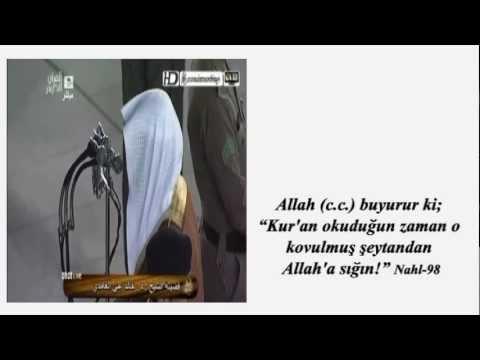 Namazda Kuran'dan önce istiaze ve besmele.