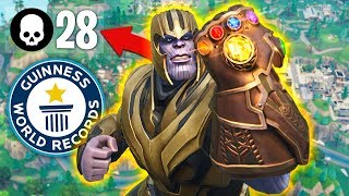 WORLD'S MOST THANOS KILLS  in INFINITY GAUNTLET!! (Fortnite Battle Royale)