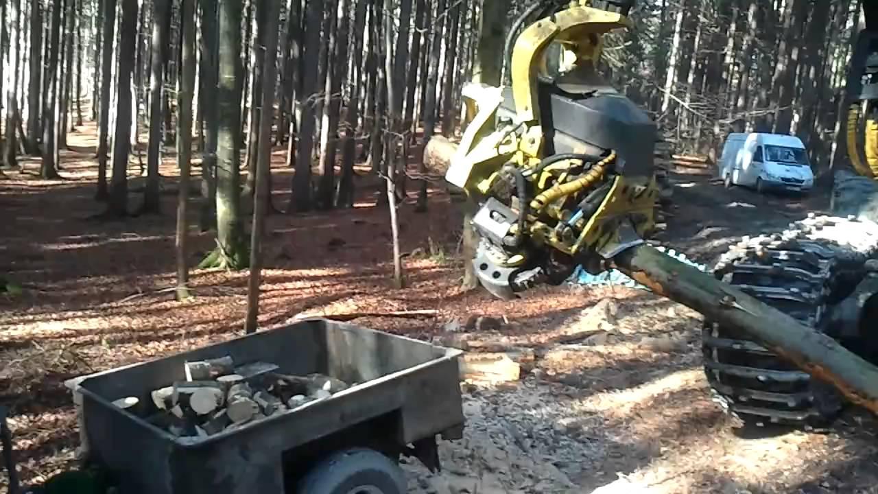brennholz machen mit harvester und sankey youtube. Black Bedroom Furniture Sets. Home Design Ideas