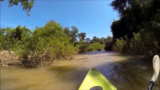 Kayaking on Mekong river (21.12.2013)
