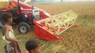 Mini Harvester Machine on MF 9500 58HP