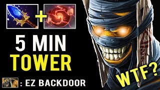 OMG 5 MIN TOWER Crazy Throne Backdoor Win Game Mid Shaman is Back Imba Push Dota 2