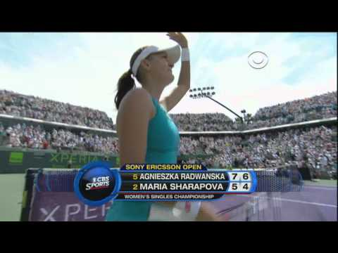 Radwańska defeats Sharapova. Miami 2012 final.