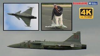 SAAB JAS 39 GRIPEN RC jet [*UltraHD and 4K*]