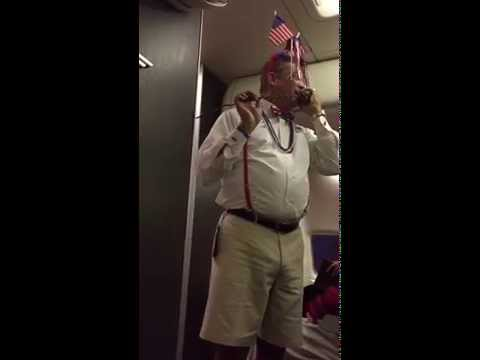 funny Southwest Airlines flight attendant