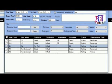 How to Set OutDoor Entery etimetrack lite essl Biometric Time Attendance Software