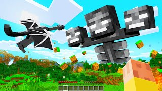 Boss Mobs Fighting Each Other In MINECRAFT!