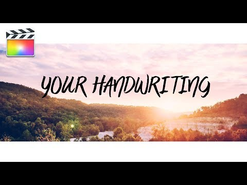 ANIMATED HANDWRITING EFFECT | FINAL CUT PRO X | ADOBE PREMIERE