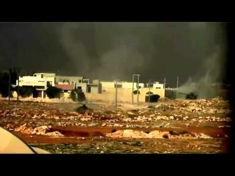Сирийские повстанцы сняли на видео танковый бой