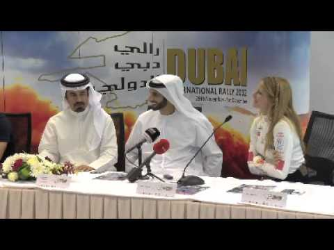 Burcu Cetinkaya ARabic Dubai Rally Press Meeting