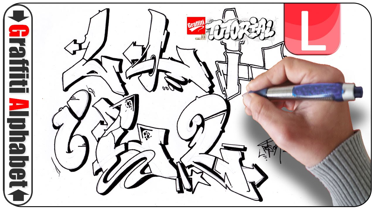 Graffiti Letters L How To Draw Alphabet Letters In