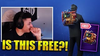 MYTH REACTS TO *FREE* RUST BUCKET Back Bling - Fortnite Best & Funny Moments (Fortnite BR)
