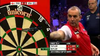 England v USA | Round 2 | Taylor v Butler | Word Cup of Darts 2014