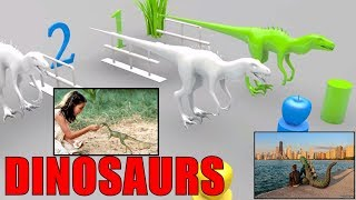 Colors for Children with  DINOSAURS and DOG make Kids Smart