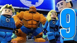 LEGO Marvel Super Heroes Movie Walkthrough 09 HD1080p - Fantastic Four  - No Commentary