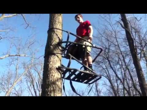 How To Use A Climbing Tree Stand Youtube