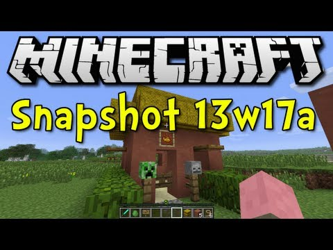 Minecraft Snapshot 13w17a (NAME TAG! HARDENED CLAY! SOCIAL ZOMBIES!)