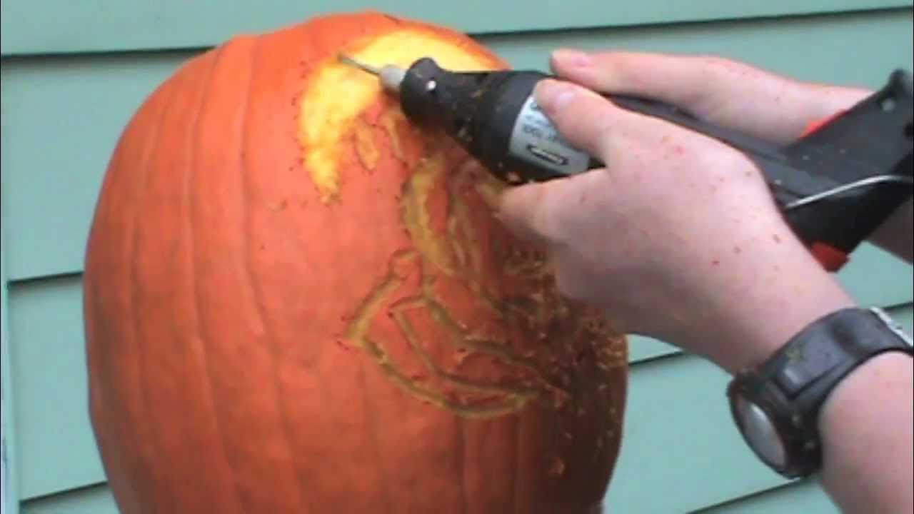 How to carve a pumpkin with dremel tool youtube