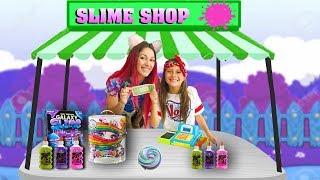 LOJINHA DE SLIME DA BIANKINHA ♥ Pretend to play with Slime Shop