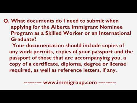 What documents I need to submit for  AINP as a Skilled Worker or an International Graduate?