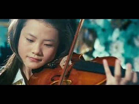 Me (Wenwen Han) play violin in The Karate Kid