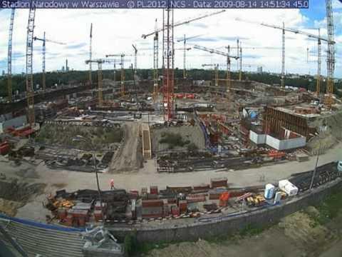 Euro 2012: Budowa Stadionu Narodowego W Warszawie