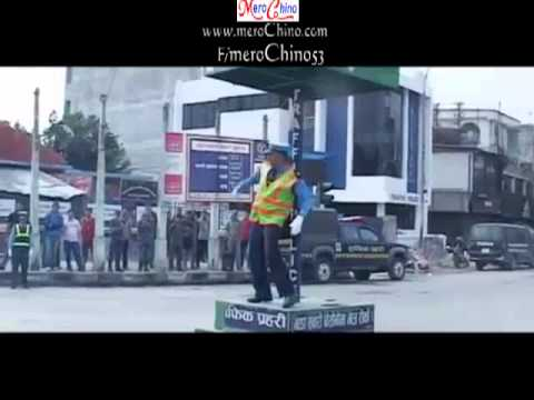 Traffic Dance in Durbar Marg, Kathmandu ,Nepal ( Mixed on Masta Jawani... )