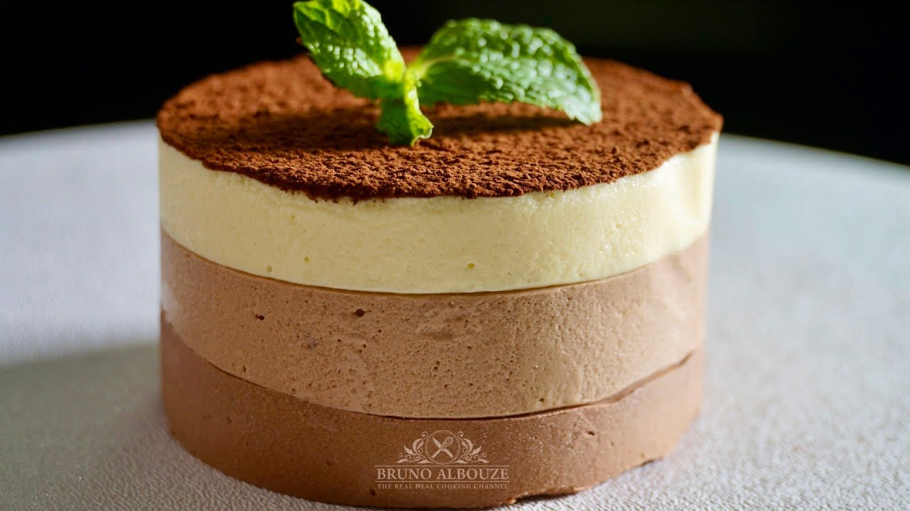 Triple Chocolate Mousse Cake Recipe - Bruno Albouze - THE REAL DEAL ...